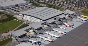 Billund Airport seen from the sky