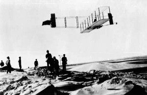 The brothers Wilbur and Orville in the air for over nine minutes October 24, 1911 in North Carolina.