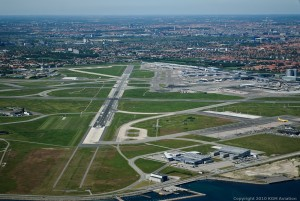 Kastrup Airport seen from the sky